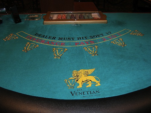 Venetian Blackjack Table