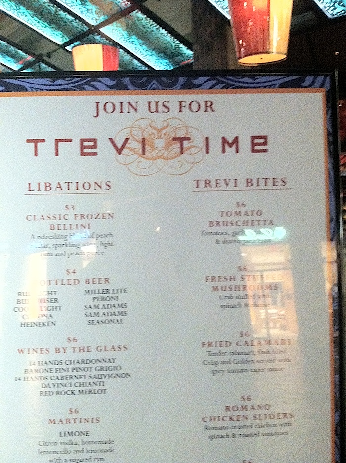 Happy Hour At Trevi At Caesars Palace