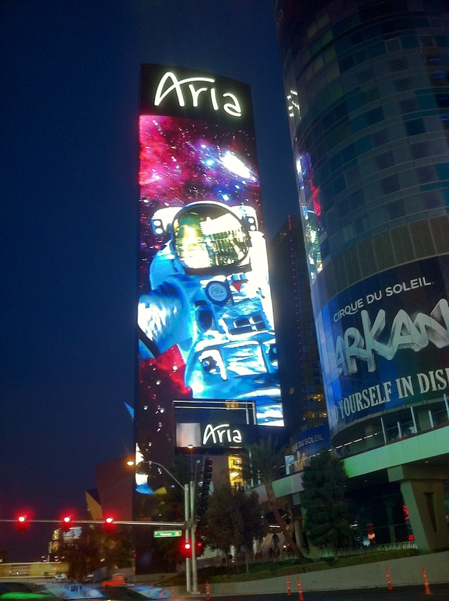 Aria Marquee At Night