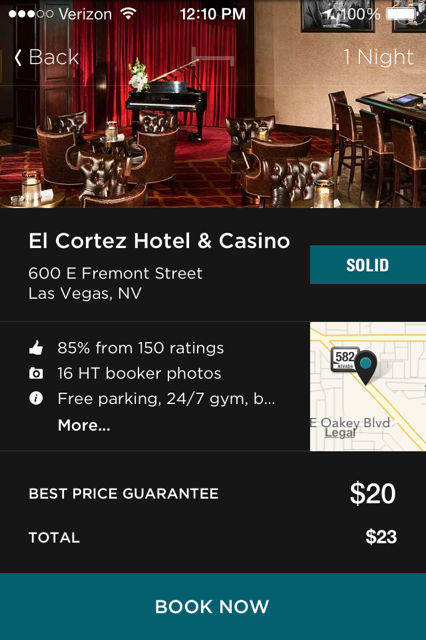 Hotel Tonight El Cortez