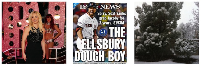 Britney Spears, Jacoby Ellsbury And Snow