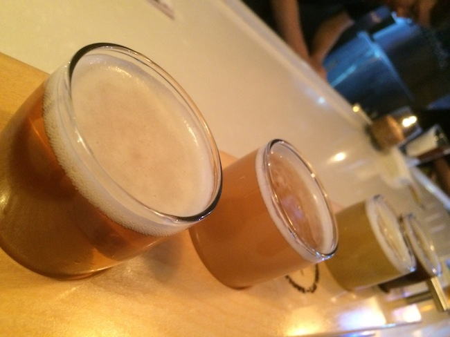 Flight of Beer At Banger Brewing in Downtown Vegas
