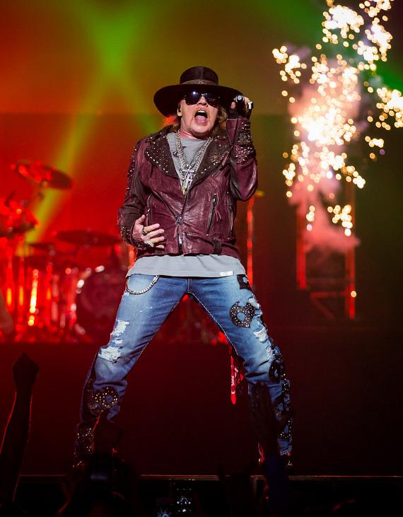 Axl Rose and Guns N Roses at the Hard Rock Casino Hotel Las Vegas