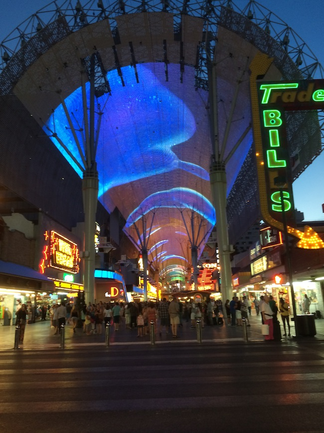 Outside Of The Fremont Street Experience Downtown Las Vegas