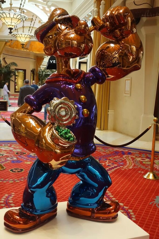Popeye Statue At Wynn Las Vegas Hotel And Casino