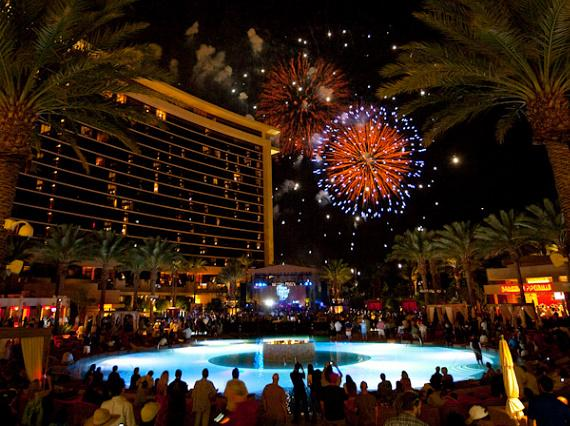 Fireworks at Red Rock Resort Las Vegas