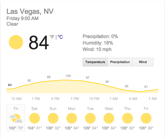 Good thing it won't be too hot while I'm vacationing