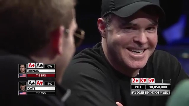 Pair of Aces In WSOP Poker Hand