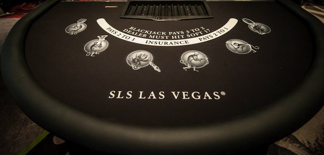SLS Las Vegas Blackjack Table