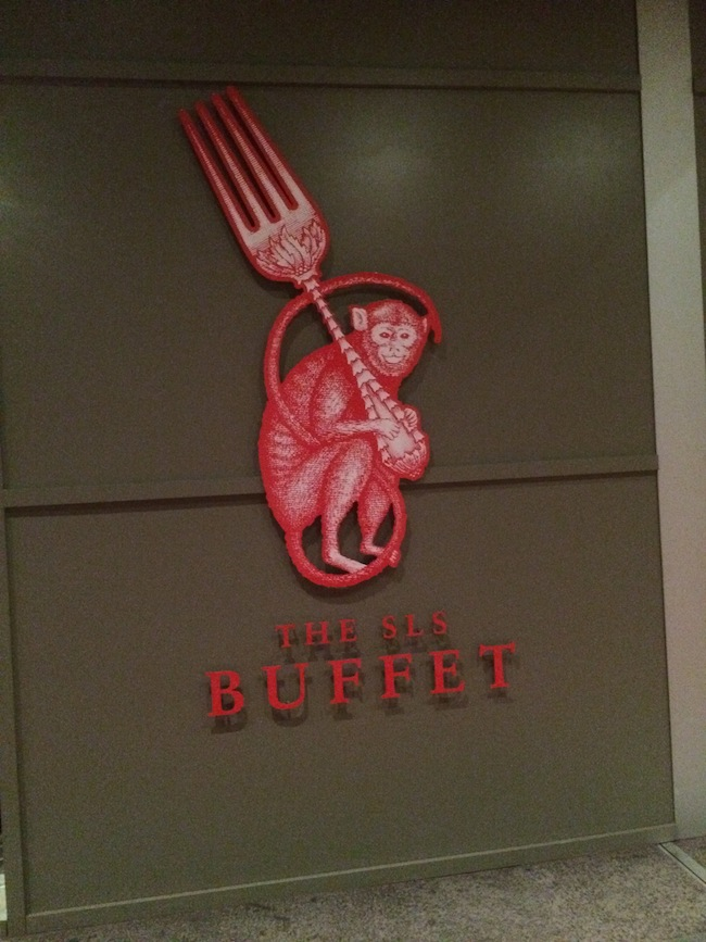 Buffet Monkey At SLS Las Vegas