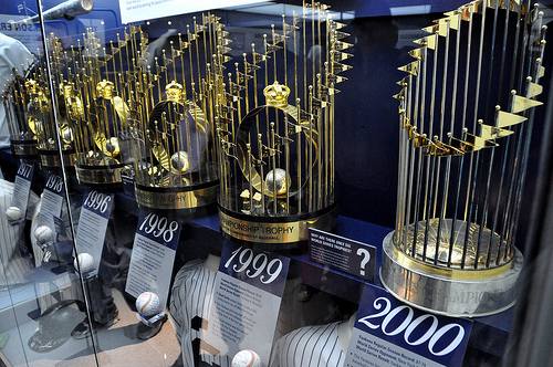 Yankees World Series Trophies