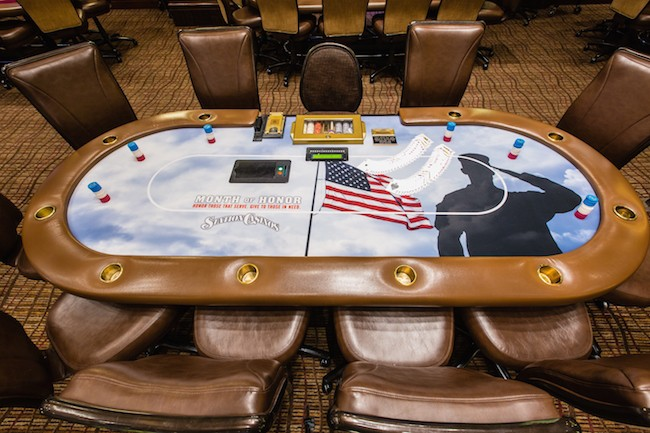 Medal of Honor Poker Table at Station Casinos Las Vegas