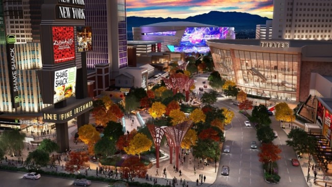 Monte Carlo Las Vegas Theater And Park Rendering