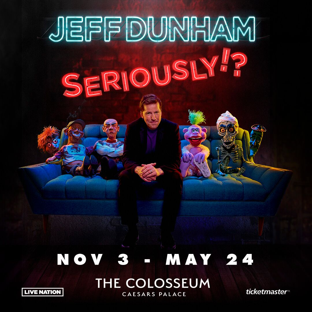 Comedy Icon Jeff Dunham To Bring His New International Tour To The Colosseum At Caesars Palace Nov. 3 & Dec. 1, 2019 Feb. 16, March 15 & May 24, 2020