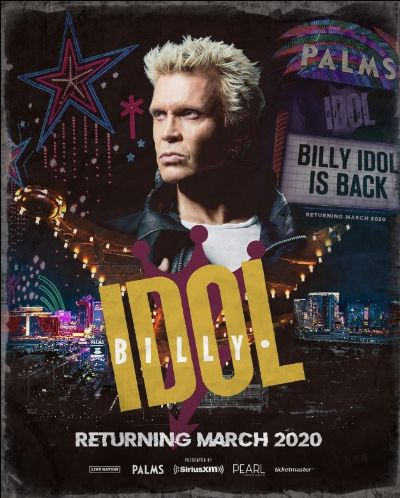 Billy Idol Extends Vegas Residency at The Pearl Into 2020