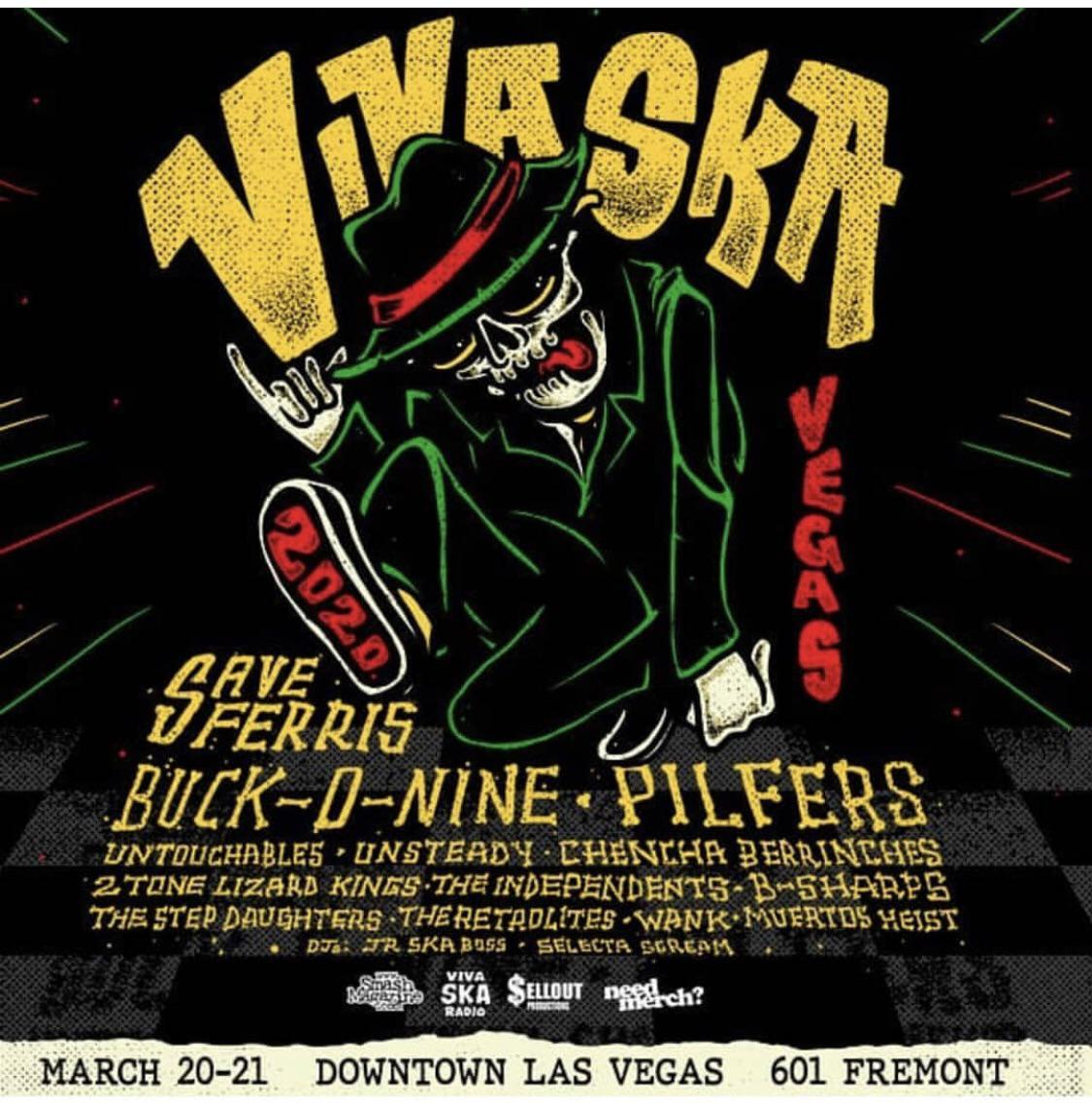 Viva Ska Vegas Returns to Downtown Las Vegas with Save Ferris, Buck-O-Nine and More March 20 & 21, 2020