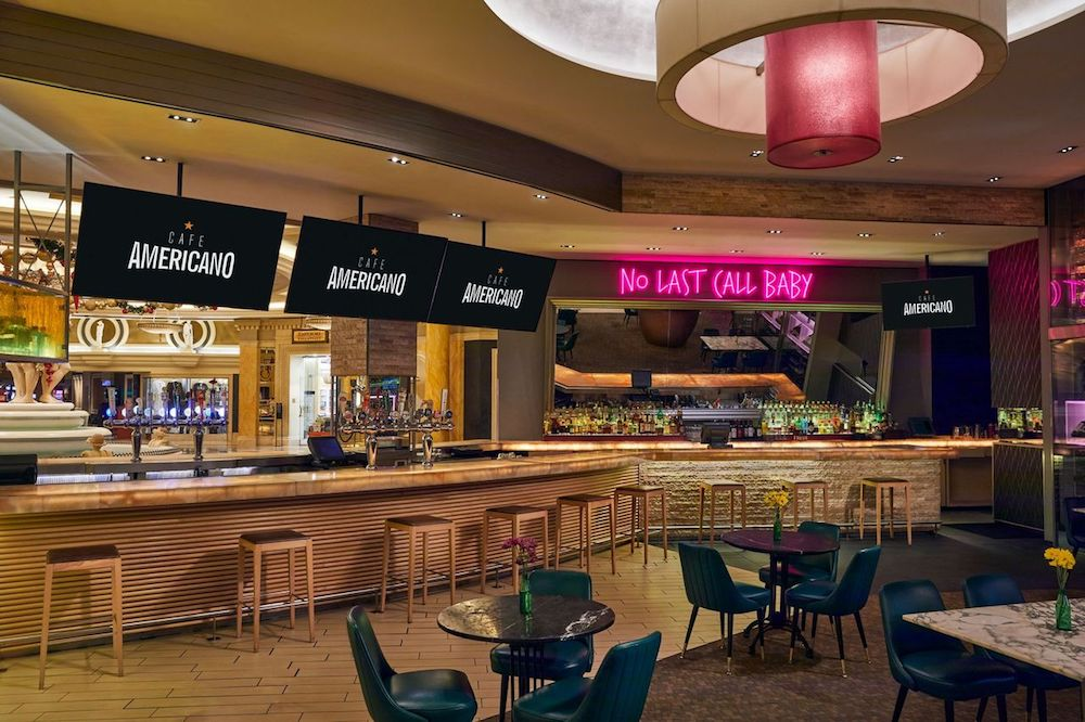 The Raiders Home Game Parties at Café Americano Caesars Palace