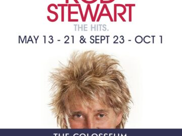 Sir Rod Stewart Extends His Hit Las Vegas Residency Into 11th Year With New 2022 Concerts At The Colosseum At Caesars Palace